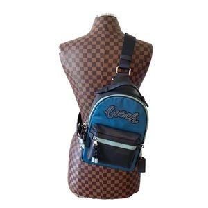 Coach Vale Slingpack Backpack Blue NEW NWT $350